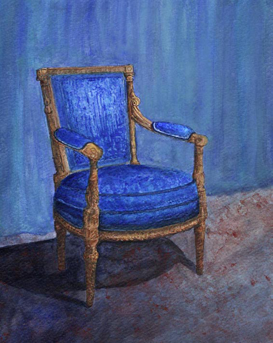 Blue Chair painting