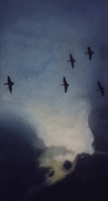 Goose Migration painting